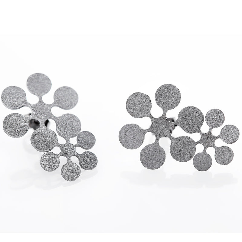 "Earrings ""Snow Flowers"""