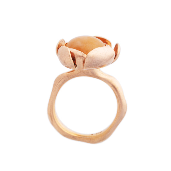 "Blossom Ring ""Yellow Agate"" Large"