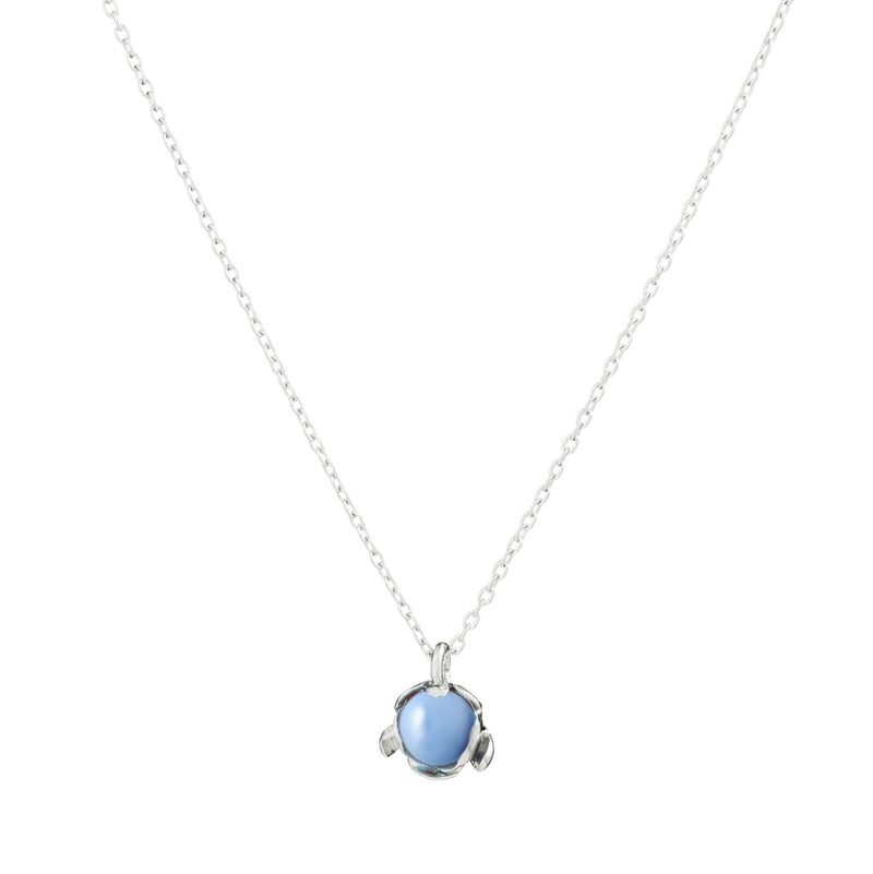 "Blossom Necklace ""Blue Peruvian Opal"""