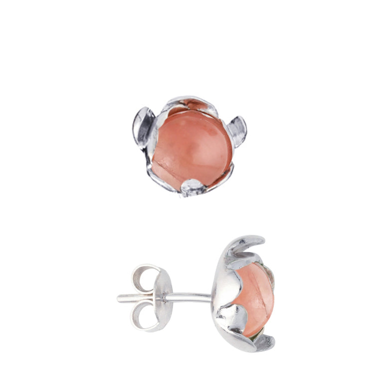 "Blossom Earrings ""Rose Agate"""