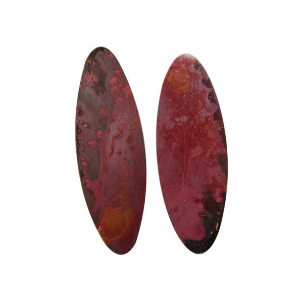 "Two Cents Earrings ""Bright Patterned Dark"" L"