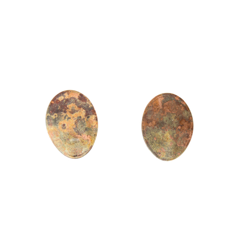 "Two Cents Earrings ""Bright Patterned Light"" S"