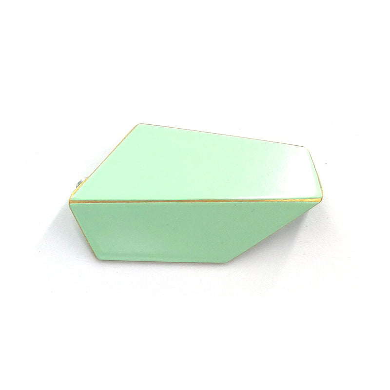"Folded Brooch ""Pastel Green"""