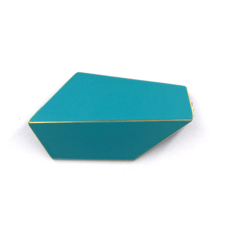 "Folded Brooch ""Turquoise"""