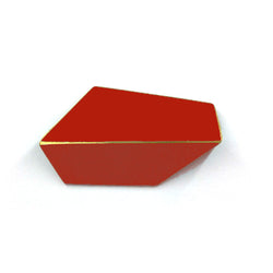 "Folded Brooch ""Coral Red"""
