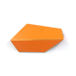 "Folded Brooch ""Pastel Orange"""