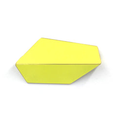 "Folded Brooch ""Sulfur Yellow"""