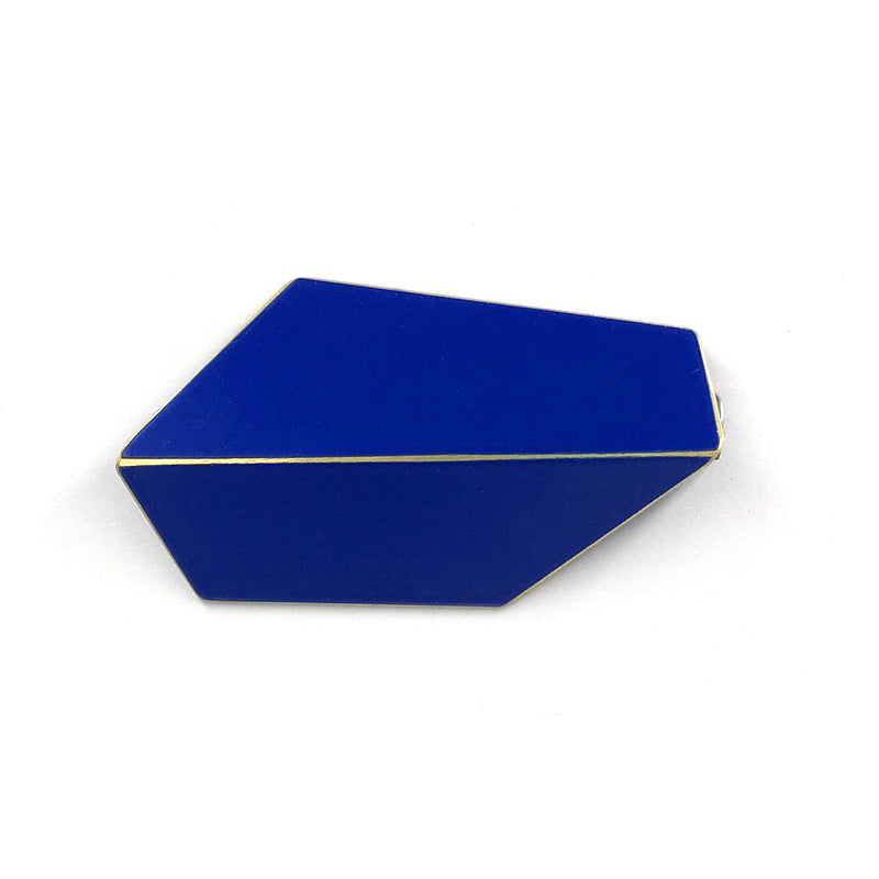 "Folded Brooch ""Ultramarine Blue"""
