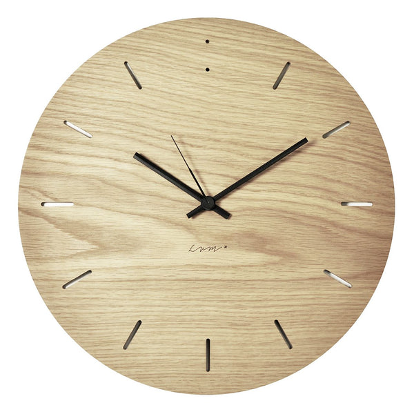 "WALL CLOCK ""BUBBLE"" Oak"