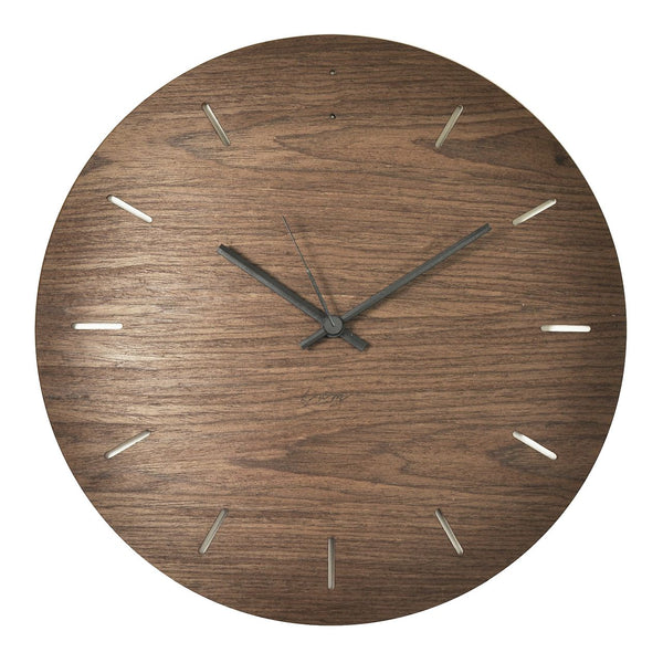 "WALL CLOCK ""BUBBLE"" Walnut"