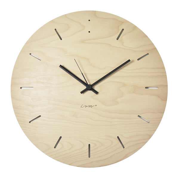 "WALL CLOCK ""BUBBLE"" Birch"