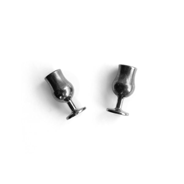"Chin-chin! Earrings ""Dark"""