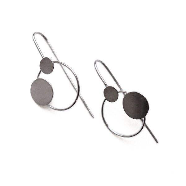 "Earrings ""Circles on the Water III"""