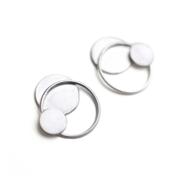 "Earrings ""Circles on the Water I"""