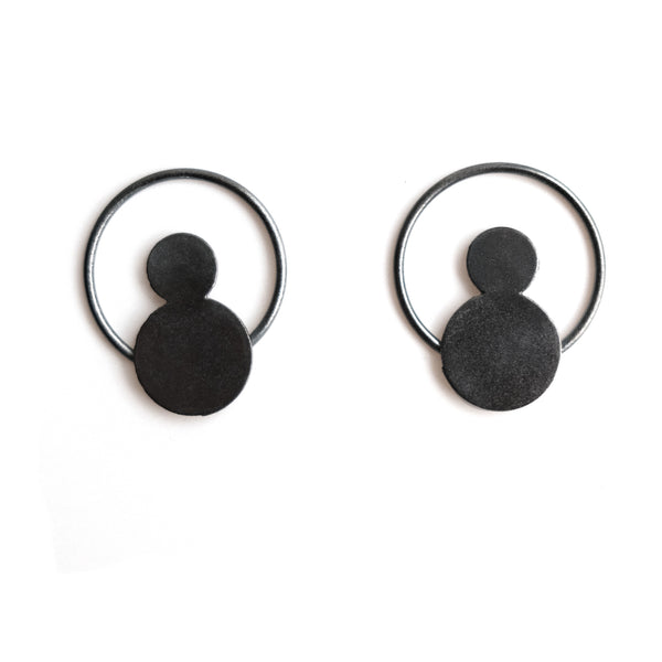 "Earrings ""Circles on the Water VII"""