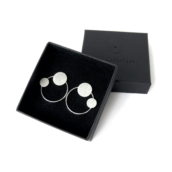 "Earrings ""Circles on the Water VI"""