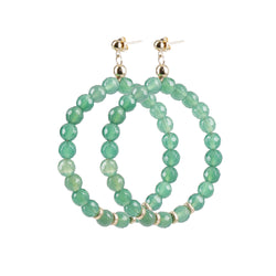 "Hoops Earrings ""Agate"" Classic"