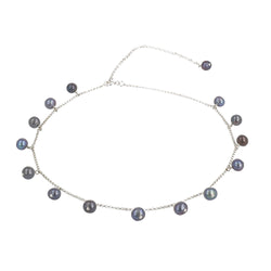 "Choker Necklace Coco ""Grey Pearl"""