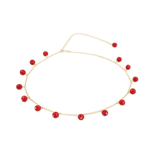 "Choker Necklace Coco ""Coral"""