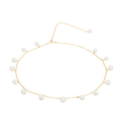 "Choker Necklace Coco ""Pearl"""