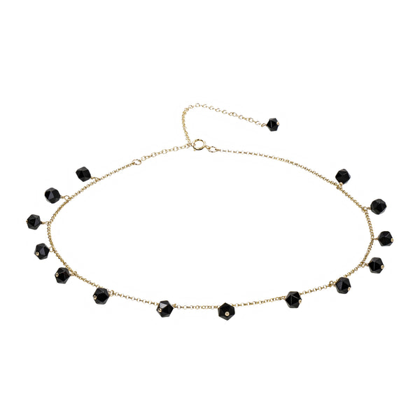 "Choker Necklace Coco ""Onyx"""