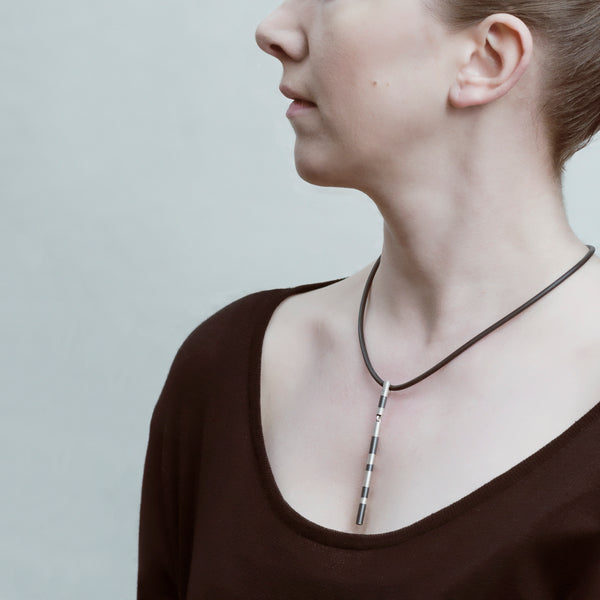 "Necklace ""Silver Flute"""