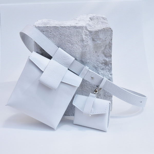 "Luce Belt Bag ""White"""