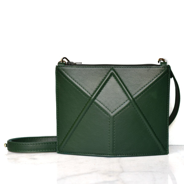 "Facet mini bag ""Green"""