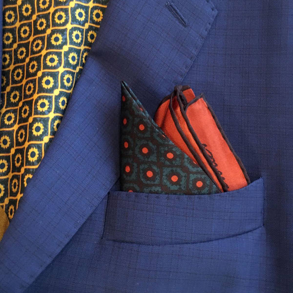 "Pocket Square ""Evel Eye Blue"""