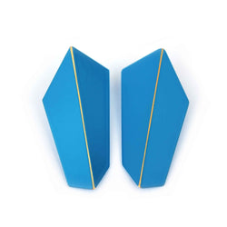 "Folded Vertical Earrings ""Light Blue"""