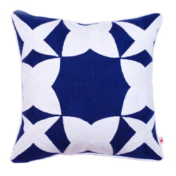 "Decorative Pillow ""Geometric Blue Pomegranate"""