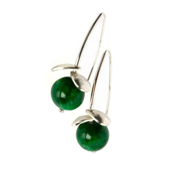 "GEOberry 3D Earrings ""Green"""