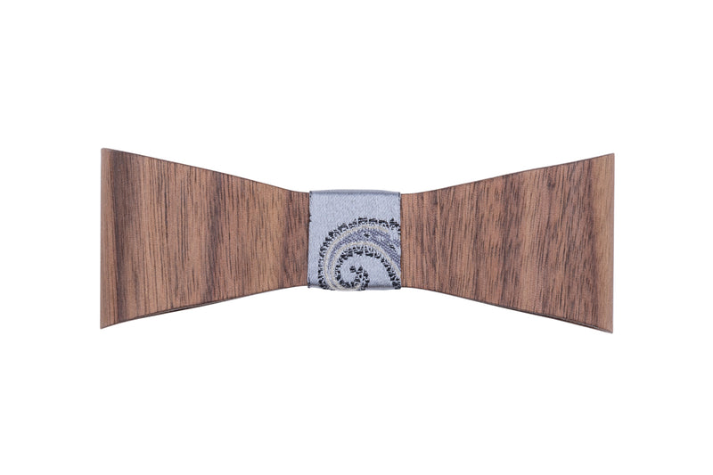 "Wooden Bow Tie ""Griseo"""