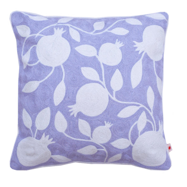 "Decorative Pillow ""Grey Pomegranate"""