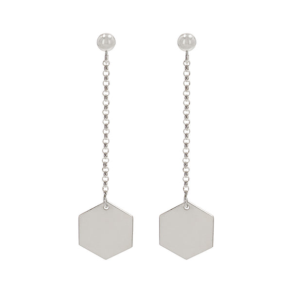 "Earrings ""Hexagon"" Long"