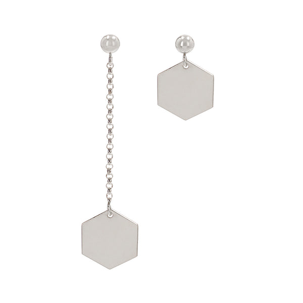"Earrings ""Hexagon"" Mixed"