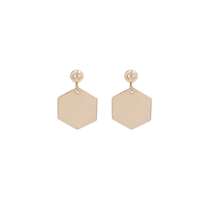 "Earrings ""Hexagon"" Short"