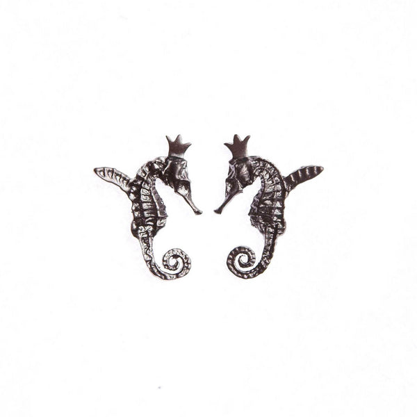"HIPPO COUTURE Earrings ""Hippocamp Dark"""