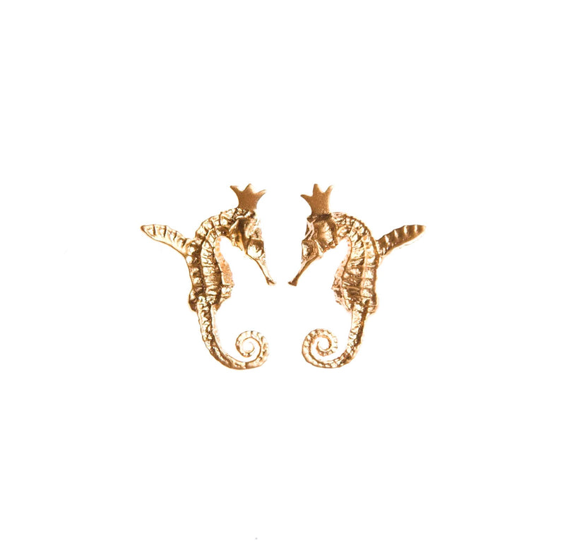 "HIPPO COUTURE Earrings ""Hippocamp Gold"""