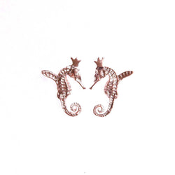 "HIPPO COUTURE Earrings ""Hippocamp Rose"""