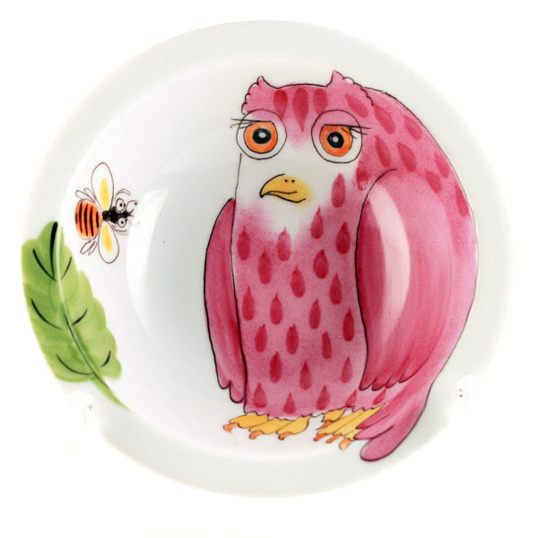 "Small Bowl ""Pink Owl"""
