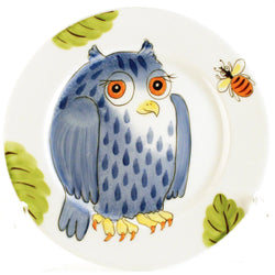 "Plate ""Blue Owl"""