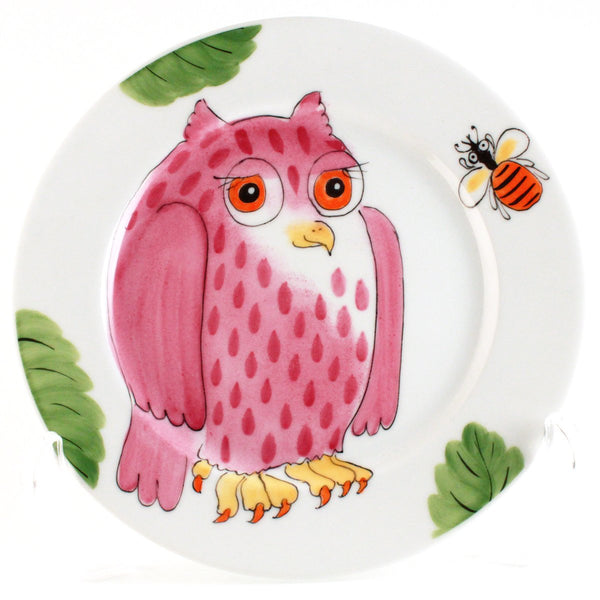 "Plate ""Pink Owl"""