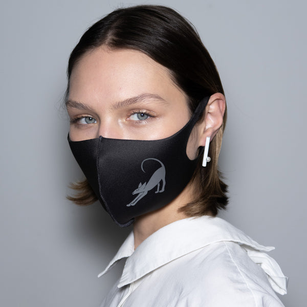 "Mask ""Silver Horos"" Black"