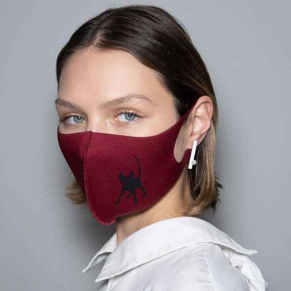 "Mask ""Black Anubis"" Burgundy"