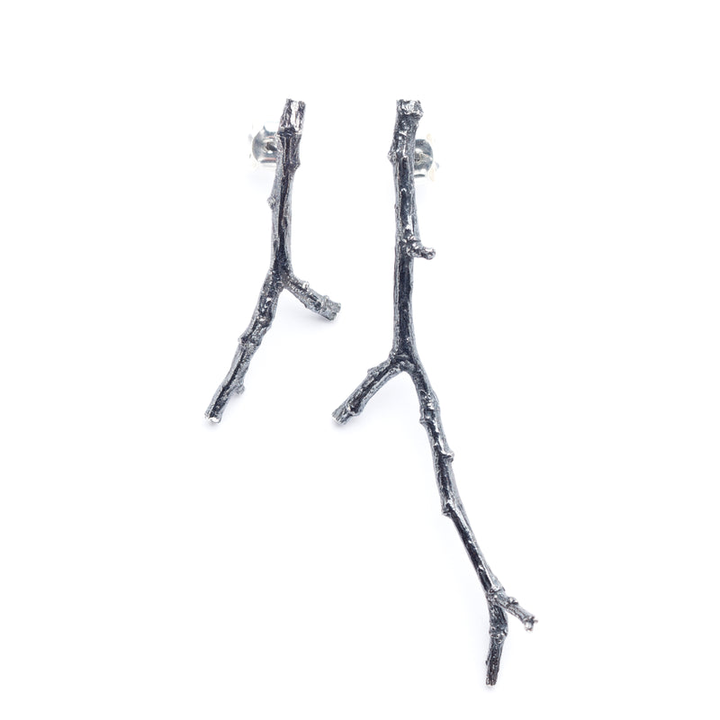"Thicket Beauty Earrings ""Leafless Twig"""