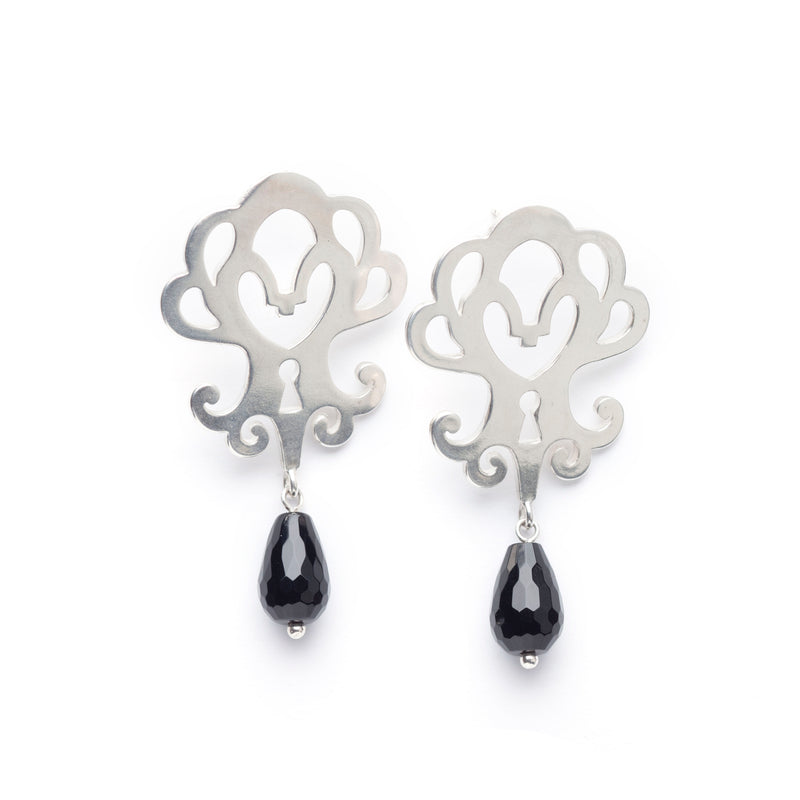 "Country House Earrings ""Locked"""