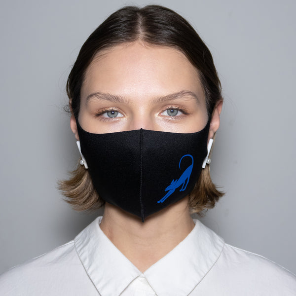 "Mask ""Blue Horos"" Black"