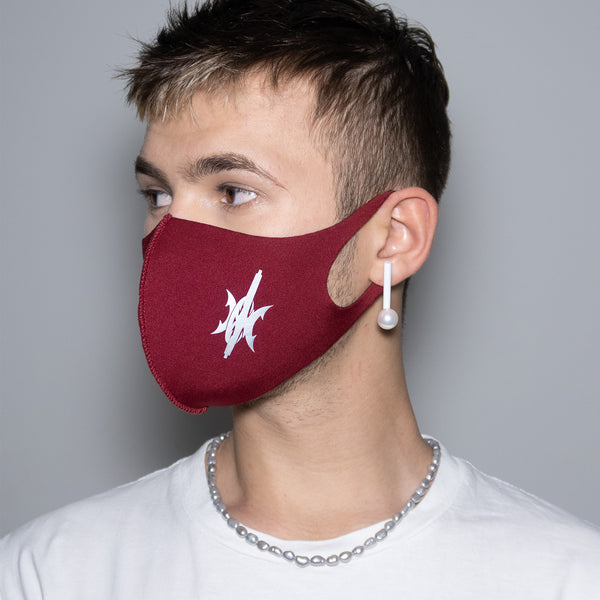 "Mask ""Silver Drift"" Burgundy"