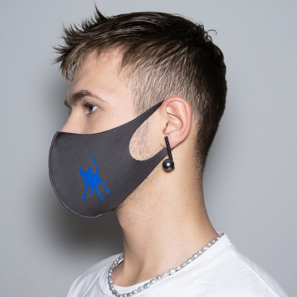 "Mask ""Blue Anubis"" Grey"
